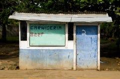 Loja de carniceiro Nicarágua rural fotos de stock royalty free