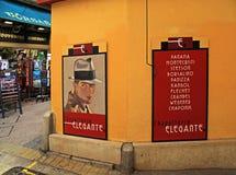 Loja de chapéu do vintage na cidade velha em agradável, França Imagem de Stock