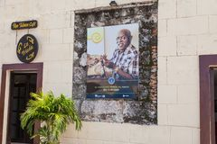 Loja de cigarro na cabana do La da fortaleza em Havana velho imagens de stock