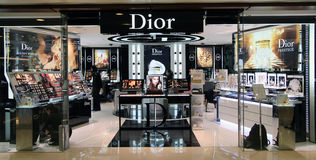Loja de Dior em Hong Kong Foto de Stock Royalty Free