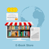 Loja de EBook Fotos de Stock