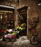 Loja de flor de Tuscan, Italy imagens de stock