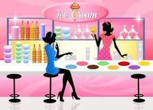 Loja de gelado ilustração stock