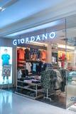 Loja de Giordano em Bangna mega, Banguecoque, Tailândia, o 10 de abril de 2018 Imagens de Stock