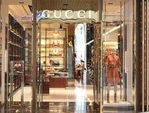 Loja de Gucci Fotografia de Stock