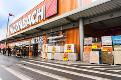 Loja de Hornbach foto de stock