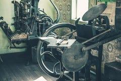 Loja de impressão do vintage Fotografia de Stock