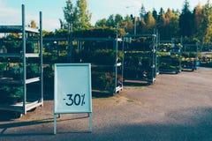 Loja de jardinagem exterior Fotos de Stock Royalty Free