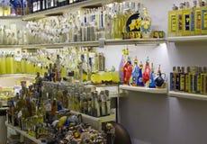 Loja de lembrança dos limoncello de Amalfi Imagens de Stock Royalty Free