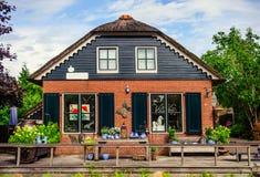 Loja de lembrança em Giethoorn Foto de Stock