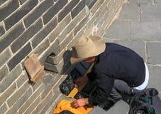 Loja de lembrança no Grande Muralha de China Fotografia de Stock
