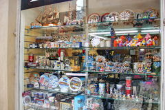loja de lembranças em Éstocolmo Foto de Stock Royalty Free