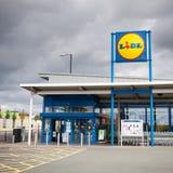 Loja de Lidl em Manchester, Reino Unido Imagens de Stock