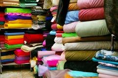 Loja de matéria têxtil Imagens de Stock