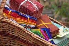Loja de matéria têxtil Fotografia de Stock Royalty Free