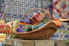 Loja de matéria têxtil Imagem de Stock Royalty Free