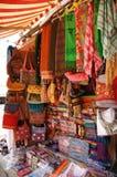 Loja de matéria têxtil em Kathmandu Imagem de Stock Royalty Free