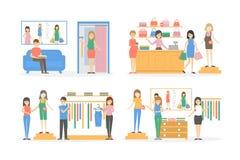 Loja de maternidade interna ilustração do vetor