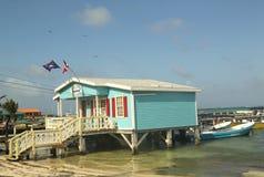 Loja de mergulho em San Pedro, Belize Foto de Stock Royalty Free