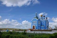 Loja de ofício do russo de Manzhouli Matryoshka no quadrado Imagens de Stock