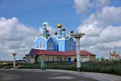 Loja de ofício do russo de Manzhouli Matryoshka no quadrado Imagens de Stock Royalty Free
