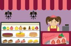 Loja de pastelaria Imagem de Stock Royalty Free