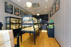 Loja de pastelaria ocidental fotografia de stock
