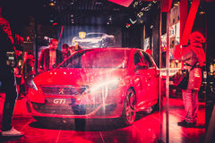 Loja de Peugeot dos automóveis Imagem de Stock