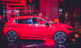 Loja de Peugeot dos automóveis Imagem de Stock Royalty Free