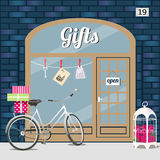 Loja de presentes ilustração royalty free