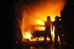 Loja de reparação de automóveis do fogo Fotos de Stock Royalty Free