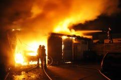 Loja de reparação de automóveis do fogo Imagem de Stock Royalty Free