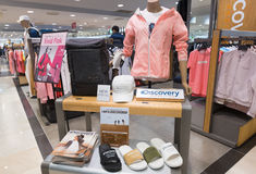 Loja de roupa da expedição da descoberta, Seoul imagem de stock