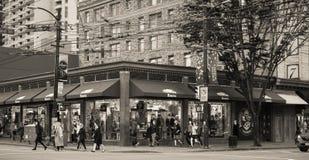 Loja de roupa das raizes, Vancôver, Canadá Imagem de Stock Royalty Free