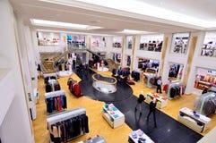 Loja de roupa luxuosa em Hamburgo, Alemanha Imagens de Stock Royalty Free