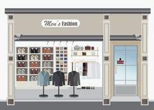 Loja de roupa para homens Imagens de Stock Royalty Free