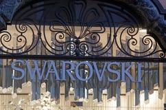 Loja de Swarovski foto de stock royalty free