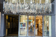 Loja de Swarovski fotografia de stock royalty free