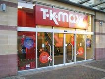 Loja de Tkmaxx Fotografia de Stock
