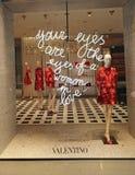 Loja de Valentino Foto de Stock Royalty Free