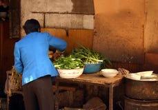 Loja de Veg na porcelana do lanzhou Fotografia de Stock