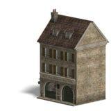 Loja de vinho do edifício da cidade. rendição 3D com Fotografia de Stock Royalty Free