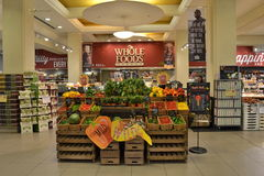 Loja de Whole Foods Fotos de Stock
