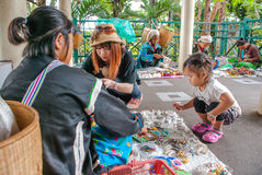 Loja do alpinista em Chiang Mai Tailândia imagem de stock royalty free