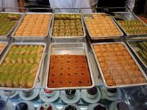 loja do bolo em Istambul Fotografia de Stock