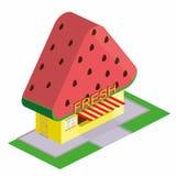 Loja do boutique com da melancia ilustração stock