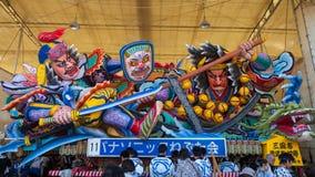 A loja do flutuador de Nebuta em uma vertente fotos de stock royalty free