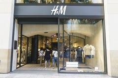 Loja do Hm em Paris Imagens de Stock