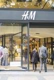 Loja do Hm em Paris Imagem de Stock