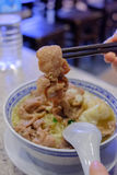 Loja do macarronete do wonton de Hong Kong Fotos de Stock Royalty Free